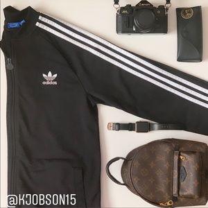 Adidas 3 Stripe Track Jacket in Black
